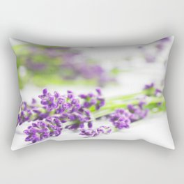 Lavender herb still life Rectangular Pillow