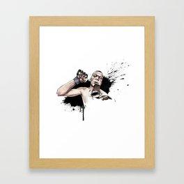 Nate Diaz FOX callout Framed Art Print