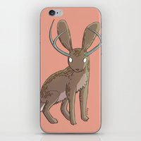 jackalope iPhone & iPod Skins featuring Jackalope by Floipoid