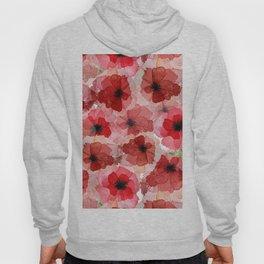 Pressed Poppy Blossom Pattern Hoody