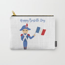 Soldier holding the French flag - Bastille Day Carry-All Pouch