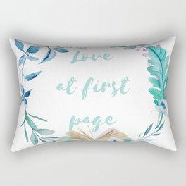Summer Love at First Page Rectangular Pillow