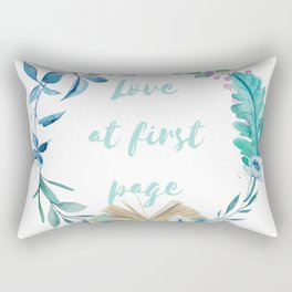 Summer Love at First Page Rectangular Pillow