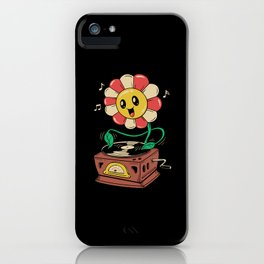 Vinyl Flower iPhone Case