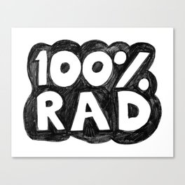 100 % RAD - Bubble Canvas Print