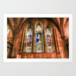 Stained Glass Windows Art Print
