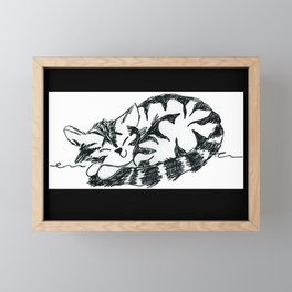 cat decor Framed Mini Art Print