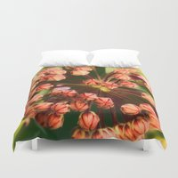 weed Duvet Covers featuring Milk Weed by Lisa Dream Wood