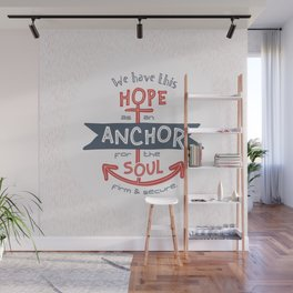 """Anchor for the Soul"" Hand-lettered Bible Verse Wall Mural"
