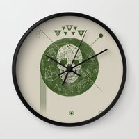 sagittarius Wall Clocks featuring Sagittarius by Josh Ln