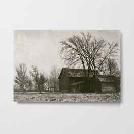 Michigan Barn Antique Landscape Metal Print