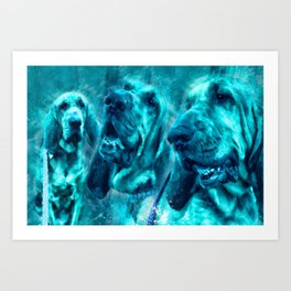 Bloodhound Love Art Print