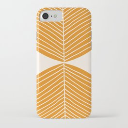 Minimal Fall Leaf Gold iPhone Case