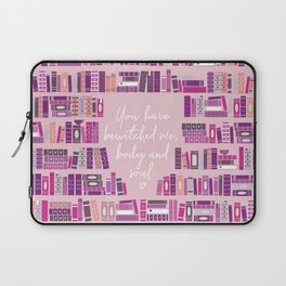Mr Darcy Quote Bookcase Laptop Sleeve