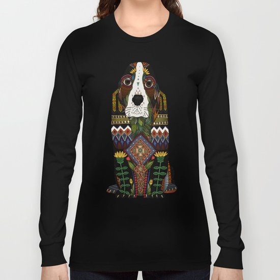 Basset Hound jade Long Sleeve T-shirt