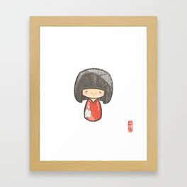 Kokeshi [Special Lucky Toy Box] Framed Art Print