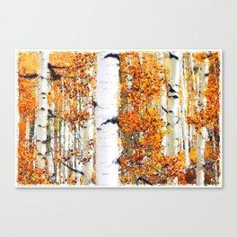 WHITE BIRCH TREE FOREST Canvas Print