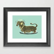 Bad Dog! (The Little Dachshund That Didn't) Framed Art Print