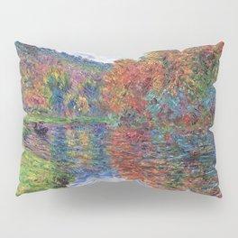 Le bras de Jeufosse, Autumn by Claude Monet Pillow Sham