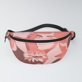 Coral dream abstract portrait Fanny Pack