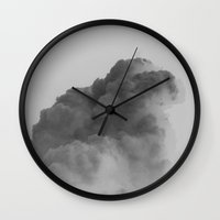 cloud Wall Clocks featuring Cloud by Sven Jaeckel