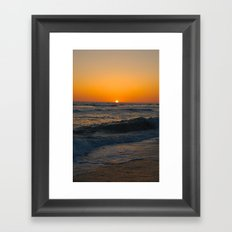 Ocean Sunset 2 Framed Art Print