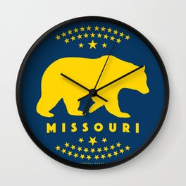 Missouri Black Bear Wall Clock