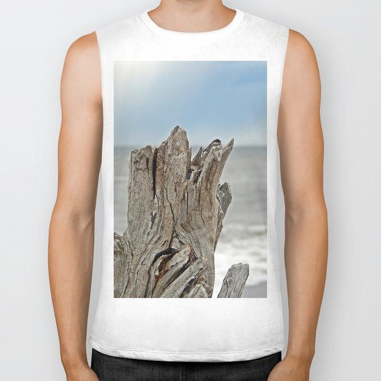 Looking past the Driftwood Biker Tank