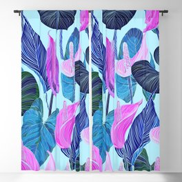 Lush Lily - cool brights Blackout Curtain