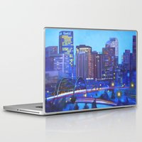 denver Laptop & iPad Skins featuring Denver Skyline by Jeannette Stutzman