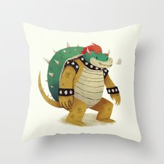 so long ke bowser Throw Pillow