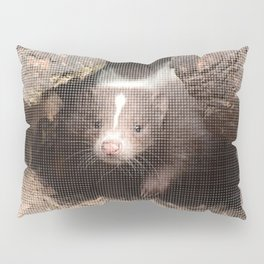 Halftone pixel fun SKUNK Baby Pillow Sham