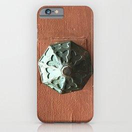Door Knob #2 on Painted Wooden Door iPhone Case