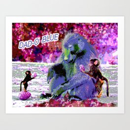 DAD-O BLUE Art Print