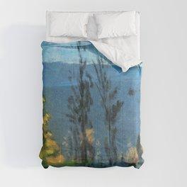 View Through Poplars - Arthur Bowen Davies Comforters