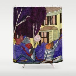 Dead End Frog Kids Shower Curtain
