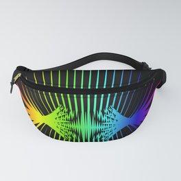 Sound Waves. Neon dark matter wave oscillations Fanny Pack