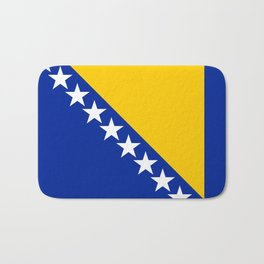 Bosnia And Herzegovina Flag Bath Mat