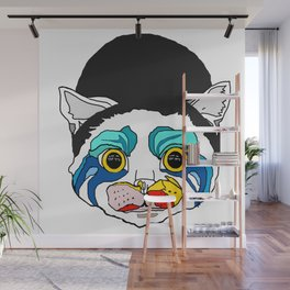 Ga Ga Cat Head Wall Mural