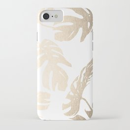 Simply Tropical Palm Leaves in White Gold Sands iPhone Case