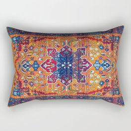 Vintage Antique Traditional Berber Atlas Moroccan Style Design. Rectangular Pillow
