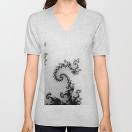 detail on mandelbrot set - pseudopod Unisex V-Neck