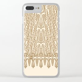 Sepia Macramé Arrowhead Chenille Lace Pattern Clear iPhone Case