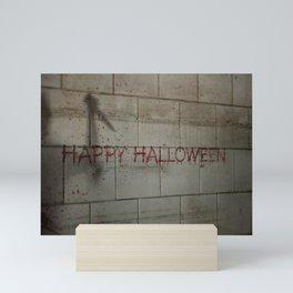Happy Halloween - Creepy Killer lurking in the Shadows Mini Art Print