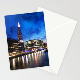 sunset-london-river-urban-city Stationery Cards