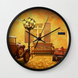 Rooms Vacant, or The Arrival In The Past Wall Clock