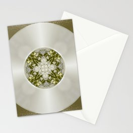 Vinyl Record Illusion in Sepia Stationery Cards