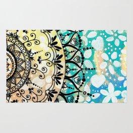 Flower Mandala Pattern Rug