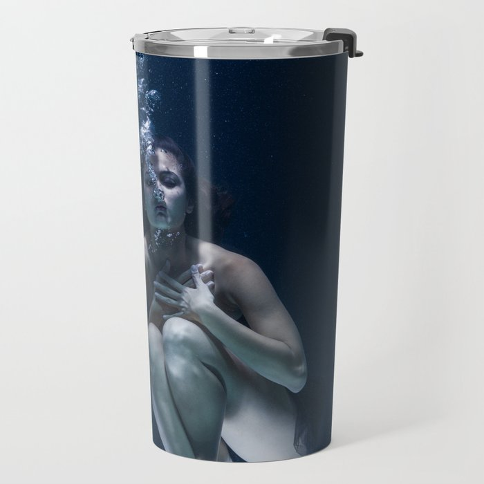 Woman Underwater Travel Mug