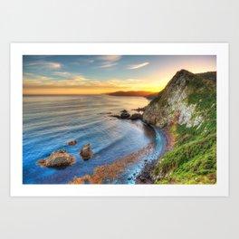 Catlins Sunset Art Print